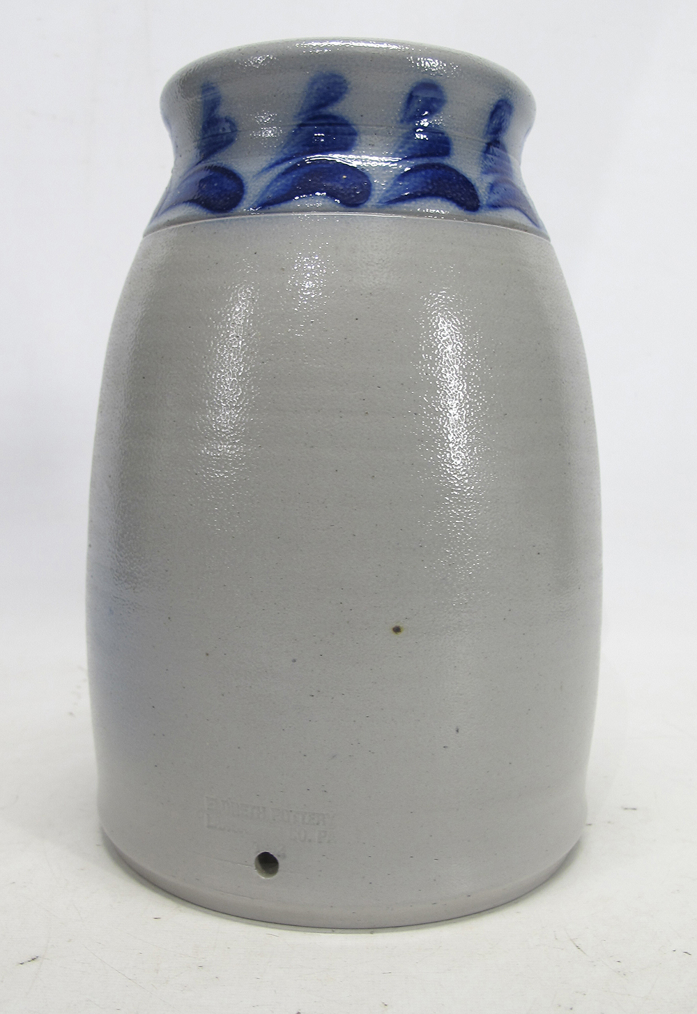 Are Salt Lamps Safe For Birds : ELDRETH POTTERY PA Cobalt Bird Decorated Salt Glazed Jar Crock 9?