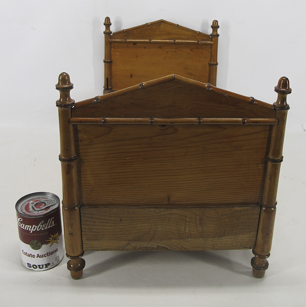 Antique Miniature Salesman Sample Oak Bamboo 22 Wooden