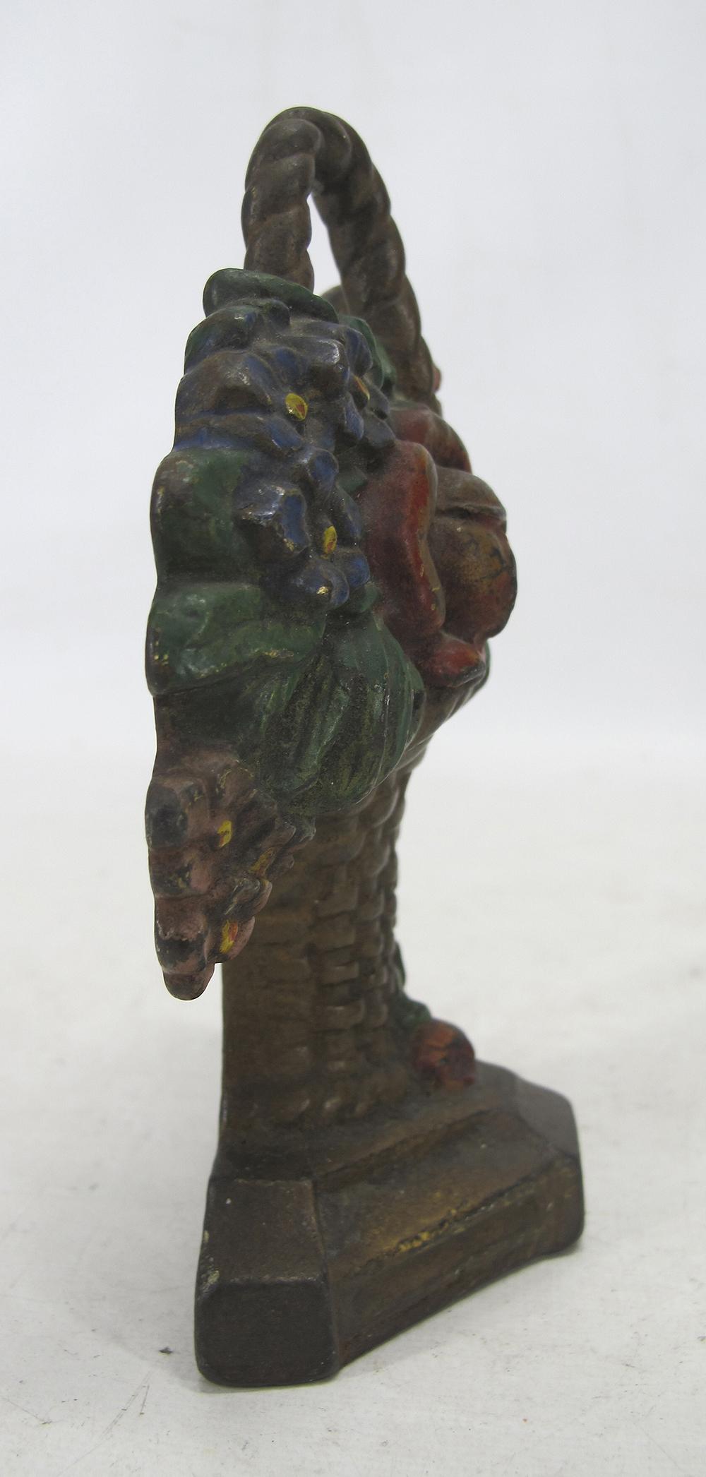 Antique Hubley Cast Iron Flower Pot Rose Basket Figural